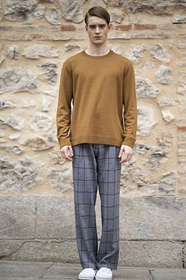 [송민호 착용]2031 Karl check semi wide pants