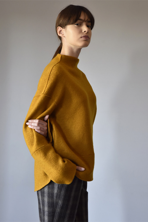 4012 Baron knit top (mustard)