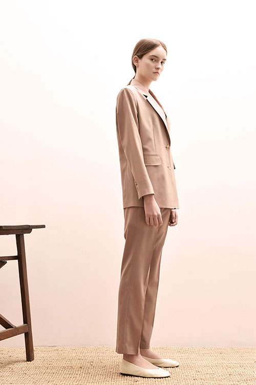 ADS-PTD202-30 AIDEN TUCK PANTS (Pink beige)