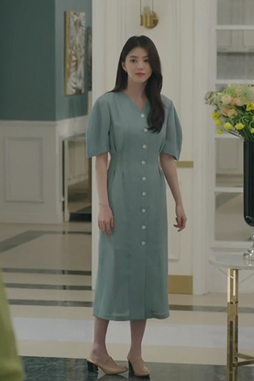JTBC 드마라 '부부의 세계'CAMILLA SINGLE BUTTON ONE-PIECE