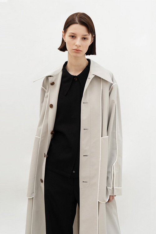 REVERSIBLE MAC COAT (L/GREY)