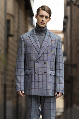 [송민호 착용]1031 Karl check double jacket