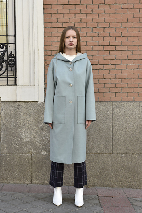 6031 Molli Hood Trench Coat (mint)
