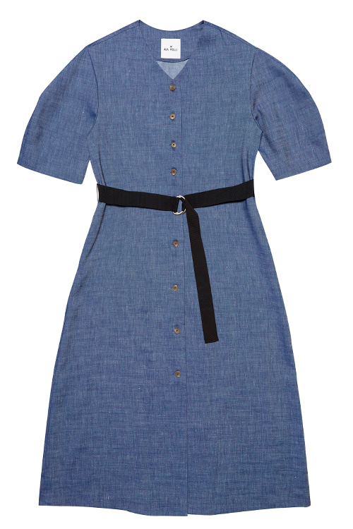 5044 Flynn Robe Dress (m/blue)