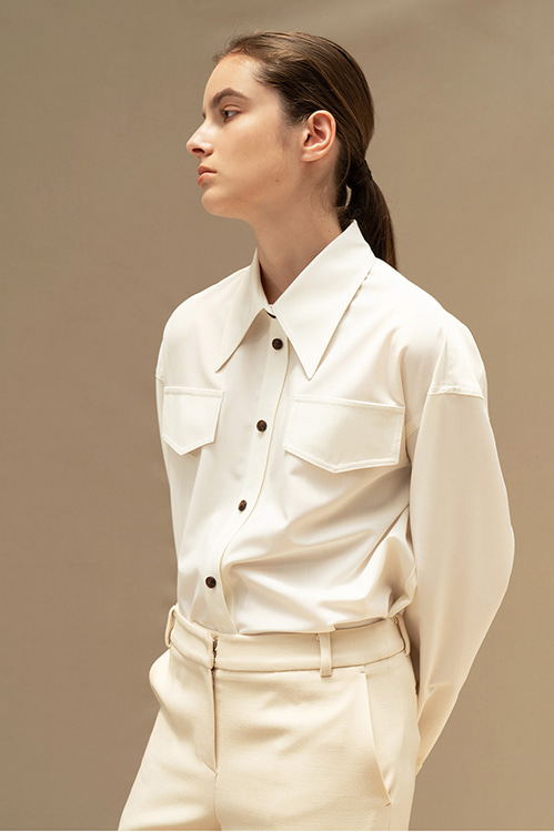 [8/18-8/19 순차적 배송]ADF-BLI402-20 WOOL SHIRTS (White)