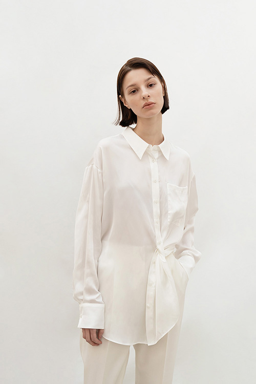 SILKY TUNNEL BLOUSE (WHITE)