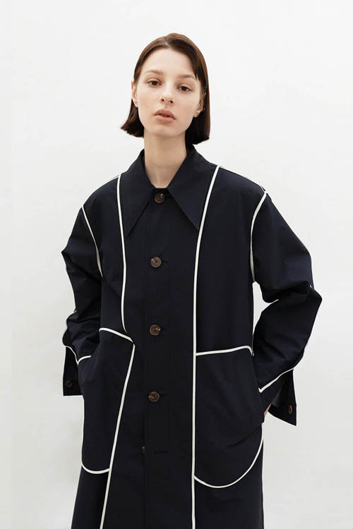 REVERSIBLE MAC COAT (NAVY)